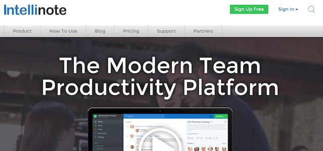 Top 10 Team Collaboration Tools: Intellinote