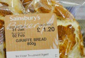 Sainsbury's Giraffe Bread