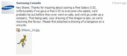 Kangaroo Message from Samsung